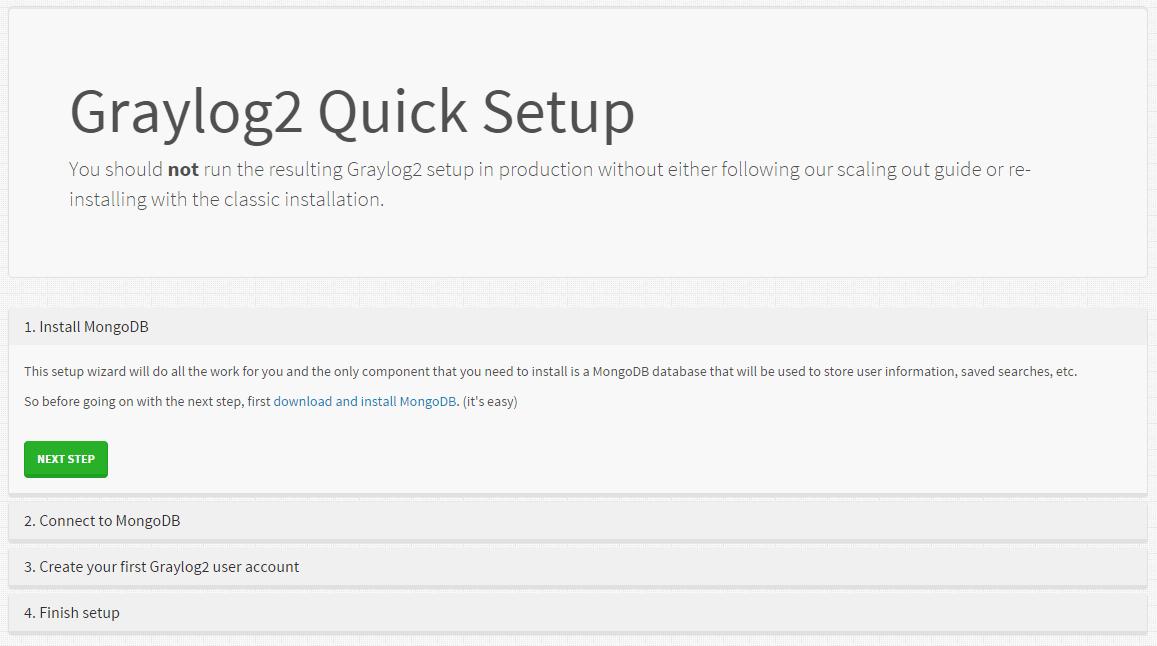 Etape 1 de l'outil Gaylog2 Quick Setup